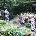 日本庭園(博多駅近くの楽水園)でのひとコマ
