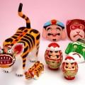 博多張子。博多の名物行事「博多どんたく」のにわか面や「十日恵比須」の飾り鯛で親しまれています!