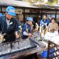 鮎の炭火焼き(昨年開催の様子)