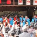住吉神社の豆撒き神事