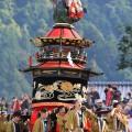八代妙見祭りの神幸行事 笠鉾「菊慈童」