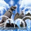 恐竜噴水プール