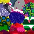 鈴木マサルのテキスタイル展 目に見えるもの、すべて色柄【 三菱地所ア …