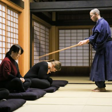 【Experience a Japanese traditional discipline】Zen meditation