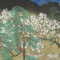 夜桜(右隻) 横山大観筆 昭和4年(1929) 展示期間11月6日〜12月9日
