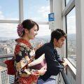 福岡タワーで思い出の写真