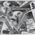 《相対性》1953年 All M.C. Escher works © The M.C. Escher Company, The Netherlands. All rights reserved. www.mcescher.com