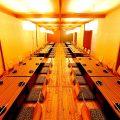 2階。最大120名様の完全個室も完備。