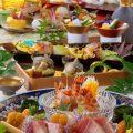 焼物、寿司、活け造りなど各コース料理は6000円からご用意。