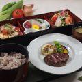 『旬彩膳』お肉、お魚、サラダ等色彩、バランス良い御膳。