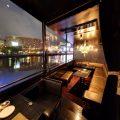 【夜景】%0A中洲の街の賑わいや川面にきらめく夜景が美しい特等席