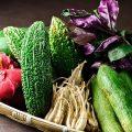 鮮度そのままの沖縄野菜を空輸で仕入れ。栄養価も高く美味。