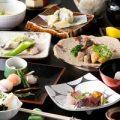 旬菜旬魚会席5000円・8000円・¥10000とご用意致しております。