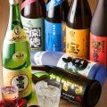 日本酒や焼酎は、全国各地の銘柄を多数取り揃えております