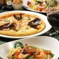 コースはスパゲッティやサラダドリンク・デザートの内容でご用意