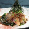 【ゴマサバ】%0A新鮮な活サバに自家製のゴマ醤油ダレが絡んだ逸品