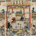 歌川国貞 錦絵「勧進大相撲興行図」天保15年頃、公益財団法人 日本相撲協会相撲博物館蔵