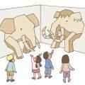 企画展「いたるところでマンモス展」マンモスの大きさを体験しよ う!