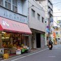 箱崎の商店街はちょっと珍しい形です。