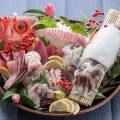 名物 あっぱれ盛り 天然旬魚の豪快な刺し盛りです。