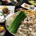 選べる鍋会席コースもつ鍋又は水炊き3200円税込(イメージ)