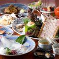 会席ではいか活造り他厳選素材を使ったお料理をお楽しみ下さい