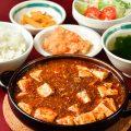 四川麻婆豆腐定食は火曜日限定!自家製ラー油が効いています。