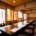 2階の松竹梅のお部屋掘りごたつ式のゆったりとした完全個室