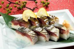 旬の鯖を素材に使った炙り鯖です。 冬季限定販売1,575円