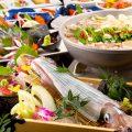 当店自慢のヤリイカ活き造りや博多もつ鍋などをご堪能ください!