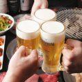 ビールで乾杯♪飲み放題もご用意しております。