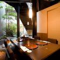 日本庭園の赴きのあるお席