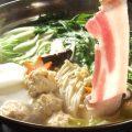 皮付き黒豚しゃぶ鍋!コラーゲンたっぷり・地鶏つみれスープ