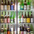 【ドリンク】福岡の地酒をはじめ日本酒は約40種類から楽しめる