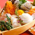 新鮮な食材を使った本格和食の数々。活魚のお造りもおすすめ!!