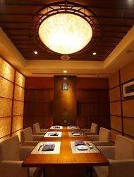 ゆったりとした個室は、ご接待やご家族で和やかに。
