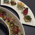 ランチメニューの一例♪自家製豆腐のサラダとオードブル5種☆