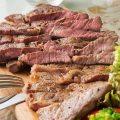 「牛ロースステーキ」は、旨み高まる加熱具合を注視