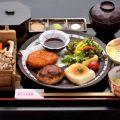 人気の五右衛門膳(豆腐ステーキ・豆腐ハンバーグ・おからコロッケ)