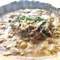 グツグツ土鍋の自慢のカレーの生パスタ