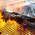 【備長炭】炭火の強火力で一気に焼き上げ旨みを封じ込めます