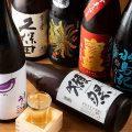 ◆選りすぐりの美酒◆料理を引き立てる日本酒や焼酎が勢揃い