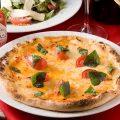 本場ナポリ風の手作りピッツァはおすすめ!