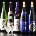 同店の料理を引き立てる、希少な日本酒も数多く揃えている。