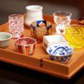 江戸切子や薩摩切子ほか名窯元の酒器もさまざまに揃う。