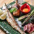 【炉端焼き】魚介やお肉を備長炭でじっくりと焼き上げます