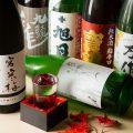 【豊富な銘酒】料理人自ら買い付けする芳醇な日本酒や焼酎多数