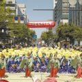 博多松囃子の稚児舞の光景(2021年はどんたく広場は中止)