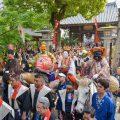 博多松囃子の表敬風景
